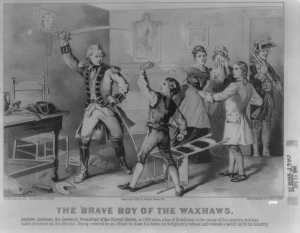 The Young Andrew Jackson Defies a British Officer
